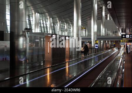 05.06.2019, Doha, Qatar, Asie - vue intérieure du nouveau terminal de l'aéroport international de Hamad.