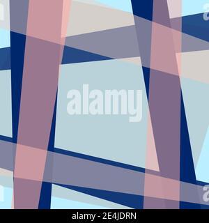 Arrière-plan multicolore. Cadre géométrique bleu, rose pâle et espace de copie gris clair. Décor de bordure. Motif abstrait pour livre, maquettes. Vecteur EPS10 Banque D'Images