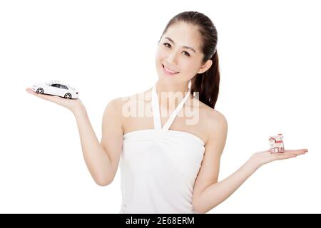 Jeune femme modèle de mode photo de haute qualité