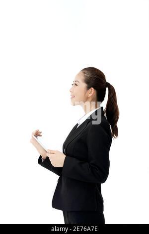 Femme d'affaires et IPAD photo de haute qualité