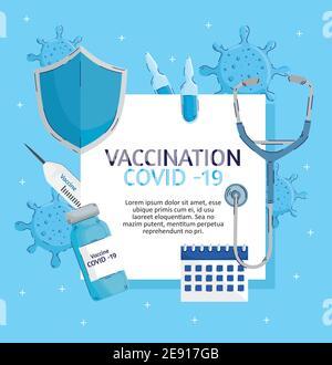 covid19 lettrage de vaccination avec les articles de la série