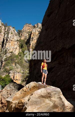 Randonnée / kloofing à Cedar Falls, Baviaanskloof, Afrique du Sud