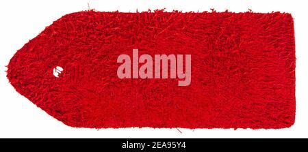 Côté marin de la nuance de cuir rouge isolée sur fond blanc Banque D'Images