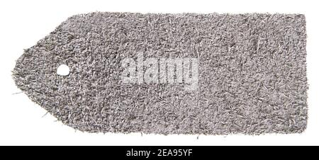 Côté marin de la nuance de cuir gris isolée sur fond blanc Banque D'Images