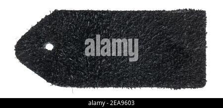 Côté marin de la nuance de cuir noir isolée sur fond blanc Banque D'Images