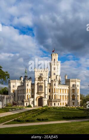 Château de Hluboka nad Vltavou en Bohême du Sud, République tchèque