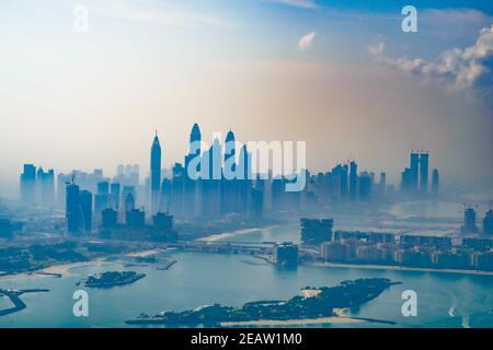 Paysage urbain de Dubaï (Émirats arabes Unis)