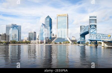 Belle ville de Jacksonville en Floride, États-Unis
