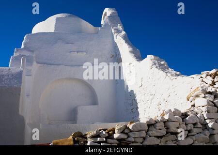 Vieilles ruines d'une église, l'église Paraportiani, la ville de Mykonos, Mykonos, les îles Cyclades, Grèce