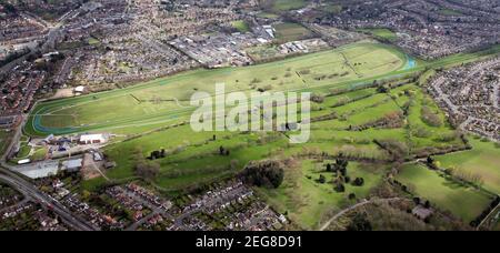 Vue aérienne de l'hippodrome de Leicester et du centre de golf de Leicester