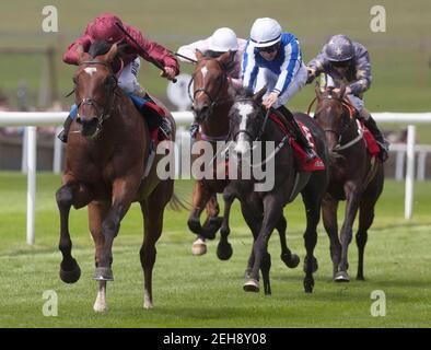 Course hippique - Newmarket July Festival - Newmarket Racecourse - 12/7/12 Shantaram, monté par William Buick (L), remporte la course du Trophée de Bahreïn 13.20 crédit obligatoire: Action Images / Julian Herbert Livepic