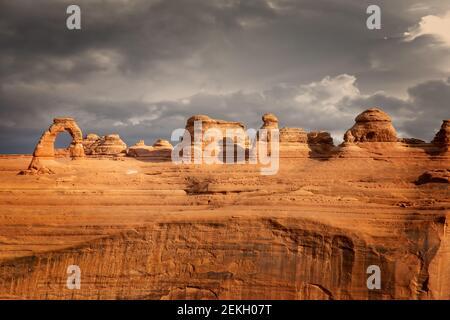 Upper Delicate Arch Viewpoint, parc national d'Arches, Utah, États-Unis Banque D'Images