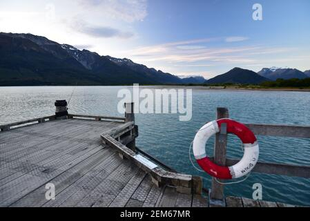 Jetée du lac Wakatipu à Glenorchy près de Queenstown, Nouvelle-Zélande