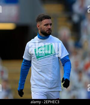 Adam Armstrong #7 de Blackburn Rovers pendant l'échauffement pour le match à Blackburn, Royaume-Uni le 2/27/2021. (Photo de Conor Molloy/News Images/Sipa USA) Banque D'Images