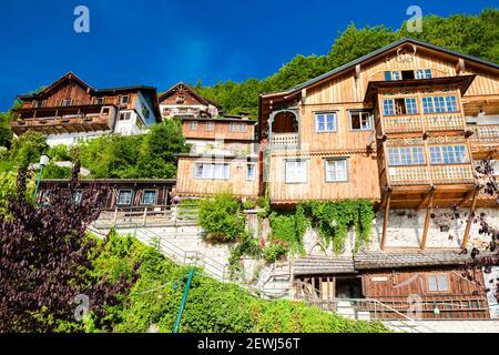 Hallstatt, village de montagne dans les Alpes autrichiennes, l'Autriche.