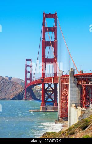 Vue sur le Golden Gate Bridge, San Francisco, Californie, États-Unis d'Amérique, Amérique du Nord