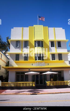 Hôtel Leslie à Miami Beach, FL, États-Unis