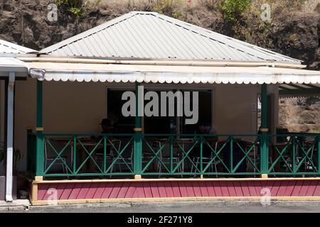 restaurant à l'extérieur de l'aéroport international maurice bishop st george grenade îles antilles
