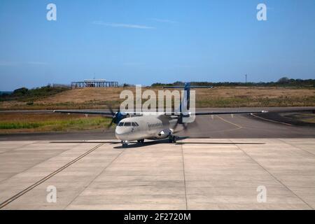liat avion de train à l'aéroport international maurice bishop st george îles éoliennes de grenade antilles