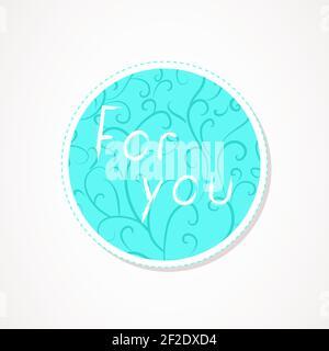 Pour vous inscrire sur des fonds ronds décoratifs avec motif abstrait. Lettrage dessiné à la main. Illustration vectorielle.