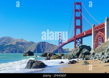 Le Golden Gate Bridge, San Francisco, California, USA