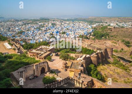 Vue sur jodhpur depuis le fort Mehrangarh au rajasthan, inde