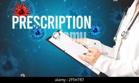 le médecin prescrit un concept de prescription