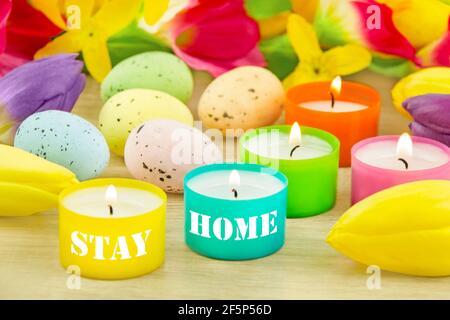 Décoration de Pâques et séjour à la maison