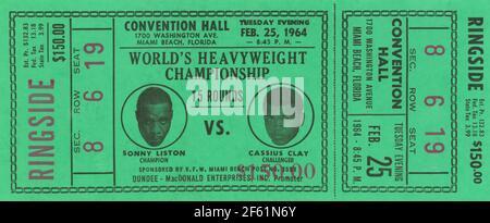 Championnat du monde de poids lourd, Liston contre Clay, 1963