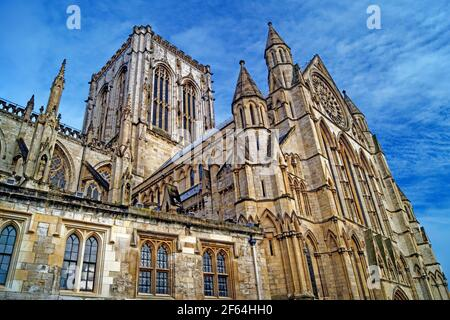 Royaume-Uni, North Yorkshire, York, Central Tower et South face of York Minster
