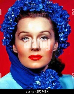 RHONDA FLEMING (1923-2020) actrice et chanteuse américaine vers 1948