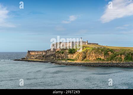 Vue sur la forteresse El Morro de San Juan, Porto Rico.