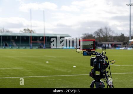 Londres, Royaume-Uni. 27 mars 2021. Diffusé lors du match Allianz Premier 15s entre Saracens Women et Harlequins Women au stade StoneX à Londres, en Angleterre. Crédit: SPP Sport presse photo. /Alamy Live News