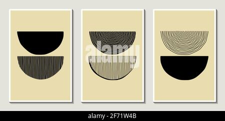 Tendance abstrait créatif minimaliste artistique peint à la main composition géométrique pour la décoration murale, couverture, brochure et papier peint moderne vecto design