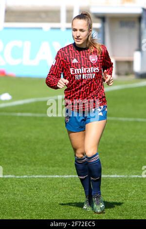 Bath, Royaume-Uni. 04e avril 2021. LIA Warti (13 Arsenal) pendant l'échauffement avant le match de la Barclays FA Womens Super League entre Bristol City et Arsenal au parc Twerton à Bath, en Angleterre. Crédit: SPP Sport presse photo. /Alamy Live News