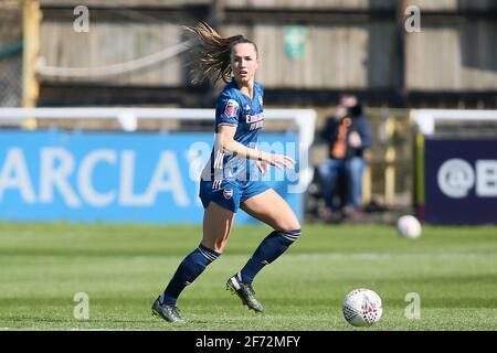 Bath, Royaume-Uni. 04e avril 2021. LIA Warti (13 Arsenal) contrôle le ballon (action) pendant le match de la FA WSL entre Bristol City et Arsenal au parc Twerton à Bath, Angleterre crédit: SPP Sport Press photo. /Alamy Live News