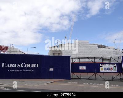 Démolition de Earl's court DEUX centres d'exposition à Londres, Royaume-Uni