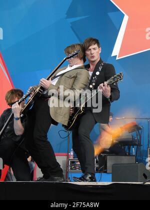 Une goutte d'eau à emporter ! - concert sur la place Trafalgar 1 an avant les Jeux Olympiques 2012, Londres, Royaume-Uni