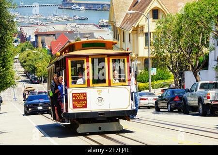 Téléphérique Powell-Hyde Line, San Francisco, Californie, États-Unis d'Amérique, Amérique du Nord