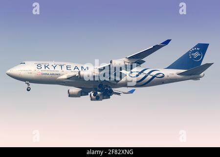 Bangkok, Thaïlande – 24. Janvier 2018 : Boeing 747 de China Airlines à l'aéroport Bangkok-Suvarnabhumi (BKK) en Thaïlande. Boeing est un fabricant d'avions