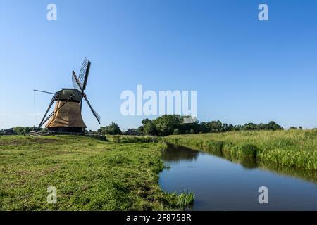 Wedelfelder Miil, moulin à vent historique en milieu rural, Frise orientale, Basse-Saxe, Allemagne