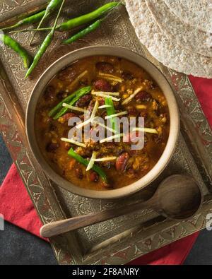 Rajma masala. Curry de haricots rouges. Inde alimentaire