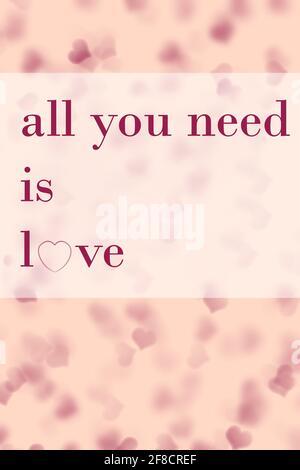 tout ce dont vous avez besoin, c'est un fond d'écran d'amour et un papier peint rose