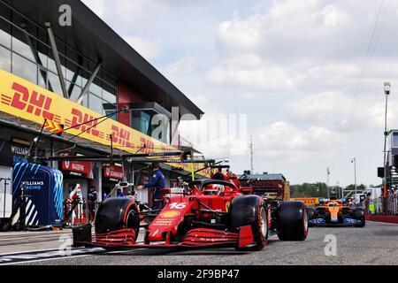 Charles Leclerc (mon) Ferrari SF-21. Grand Prix Emilia Romagna, samedi 17 avril 2021. Imola, Italie.