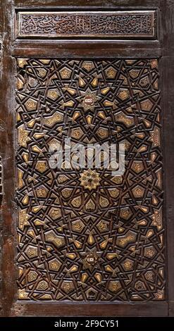Detail, 15ème siècle, Mamluk minbar, complexe d'Abu Bakr ibn Muzhir, le Caire, Egypte, maintenant dans le Musée national de la civilisation égyptienne, Fustat, le Caire