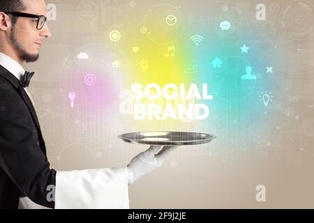 Concept de réseau social serveur