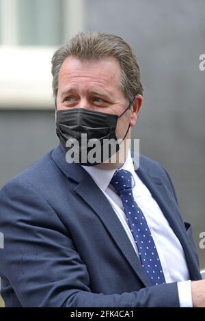 Mark Spencer député - Secrétaire parlementaire du Trésor (Whip en chef), rue Downing, le 27 avril 2021