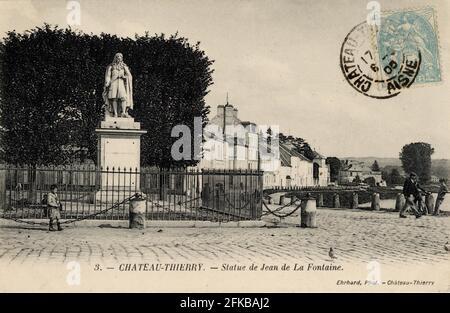 CHÂTEAU-THIERRY. Département français : 02 - Aisne carte postale fin du XIXe siècle - début du XXe siècle