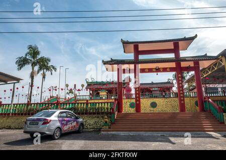 Temple chinois, Kampung Musi, Bau, Sarawak, Malaisie orientale