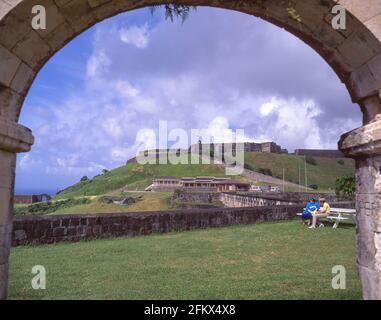 Forteresse de Brimstone Hill, Saint-Kitts, Saint-Kitts-et-Nevis, Petites Antilles, Caraïbes Banque D'Images